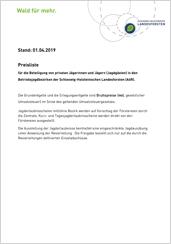 Preisliste Jagd der Schleswig-Holsteinischen Landesforsten