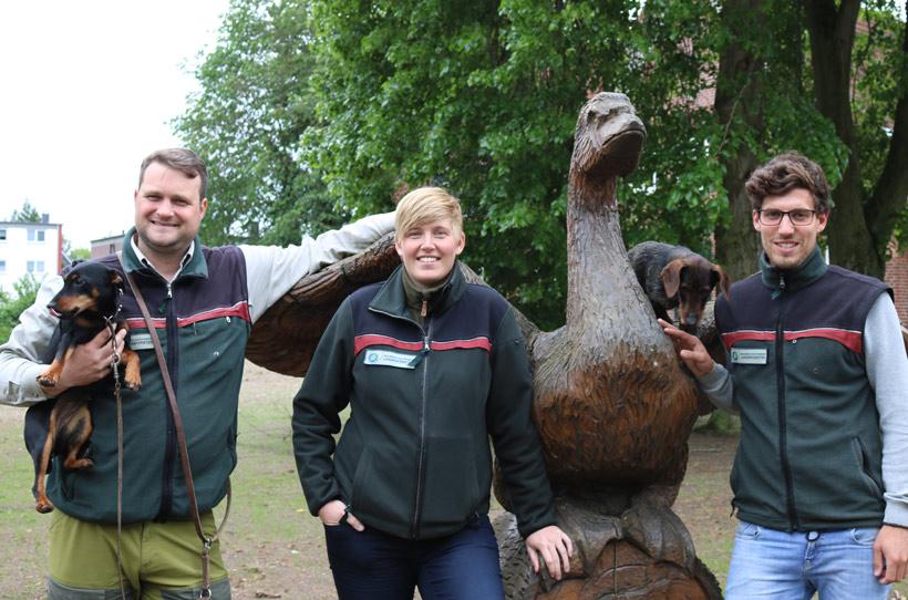 Trainees der Schleswig-Holsteinischen Landesforsten
