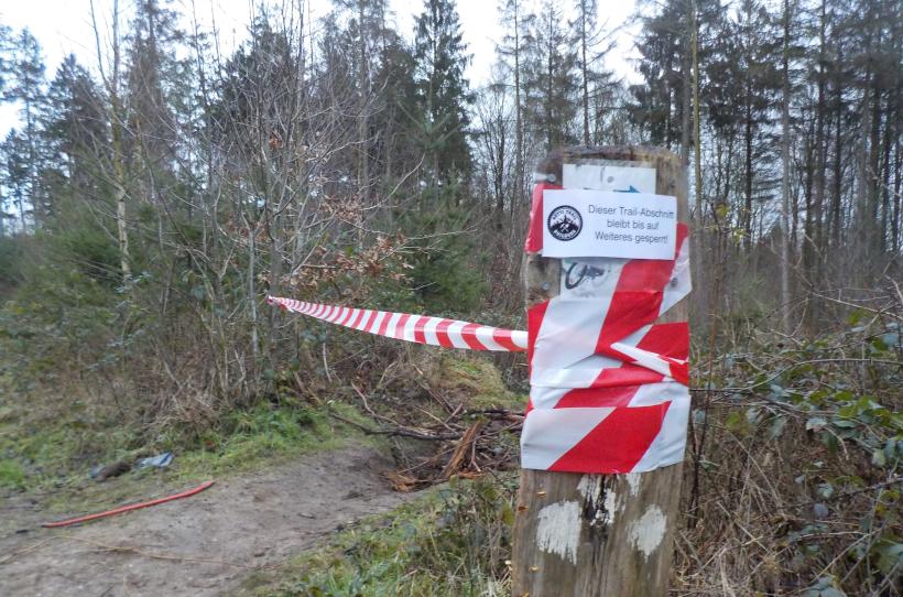 Hütti-Trail vorübergehend gesperrt