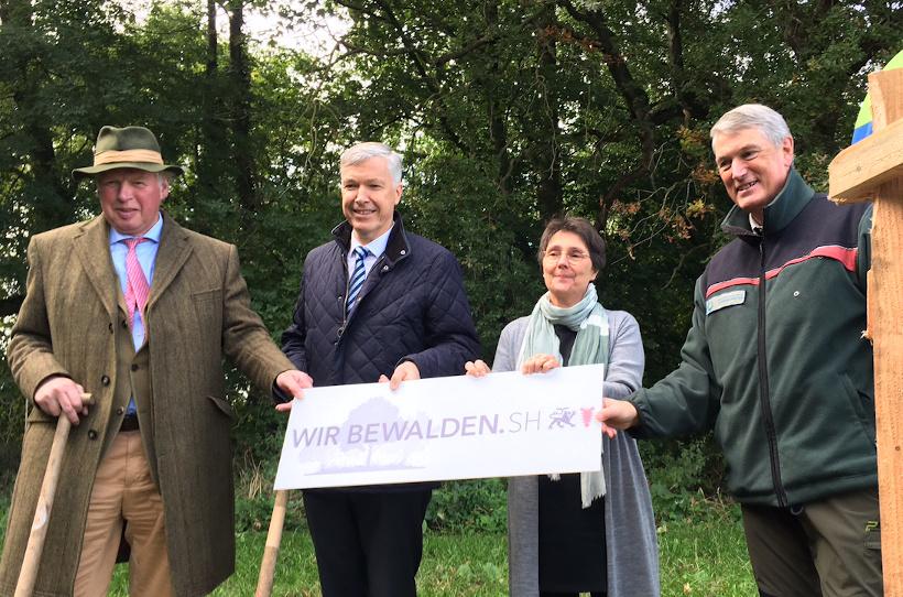 v. l. n. r.: Hans-Caspar Graf zu Rantzau, Erk Westermann-Lammers, Monika Heinold und Tim Scherer