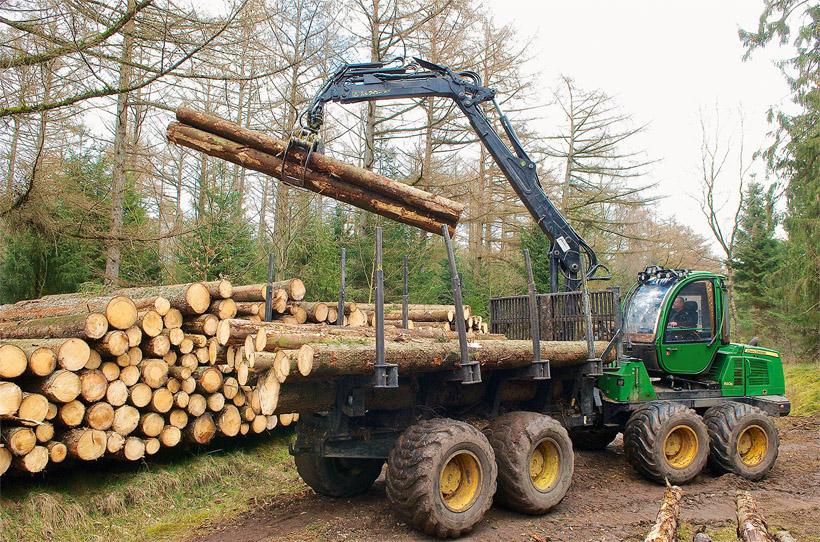 Forwarder in den Wäldern der Schleswig-Holsteinischen Landesforsten