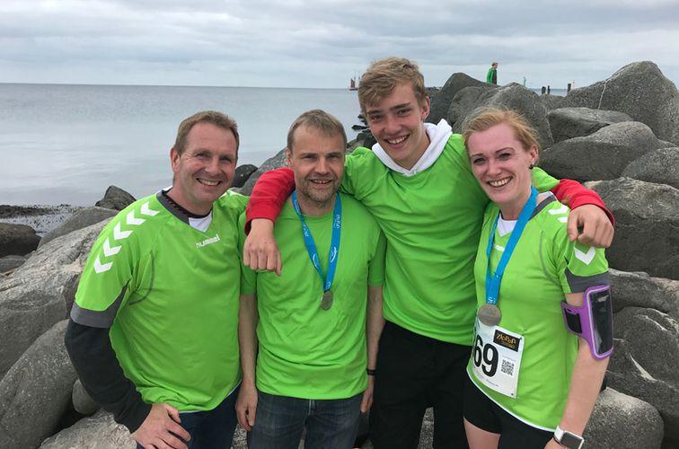Team Landesforsten beim »Lauf zwischen den Meeren«