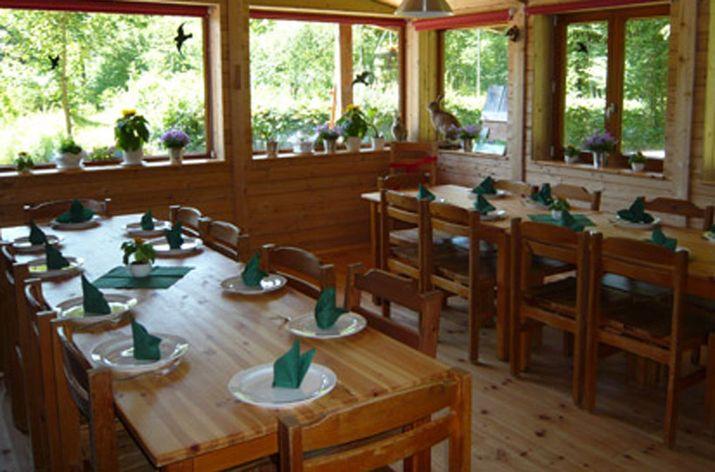 Jugendwaldheim Hartenholm, Der Speisesaal, Schleswig-Holsteinische Landesforsten