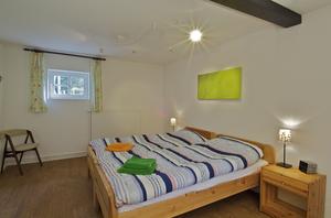 Ferienhaus Glashütte, Blick ins Schalfzimmer, Schleswig-Holsteinische Landesforsten