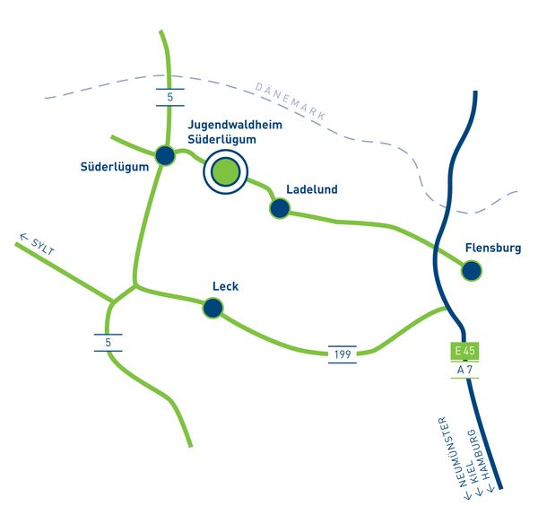 Anfahrt Jugendwaldheim Süderlügum